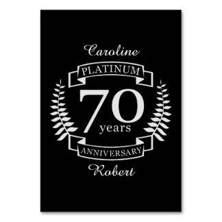 70. Hochzeitstag PLATIN Karte