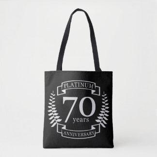 70. Hochzeitstag PLATIN Tasche