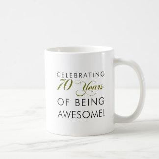 70 Jahre des Seins feiern fantastisch Kaffeetasse