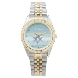 70. Jahrestags-Platin-Herzen Armbanduhr