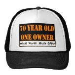 70 Jährige, ein Inhaber - die Bedarfs-Teile, mache Truckercap