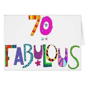 70 und fabelhafter 70. Geburtstag Grußkarte