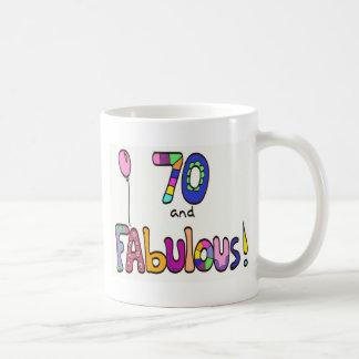 70 und fabelhafter 70. Geburtstag Kaffeetasse