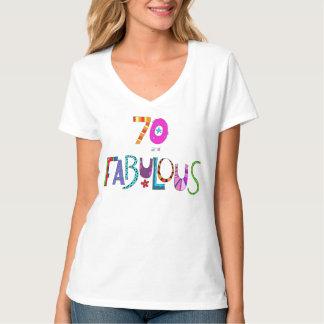 70 und fabelhafter Geburtstags-bunte T-Shirt