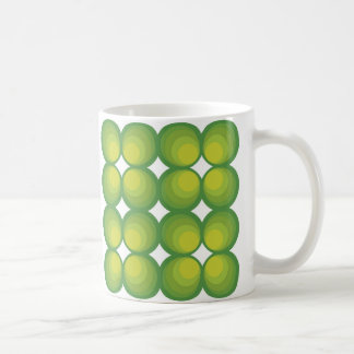 70's years green circle rows... kaffeetasse
