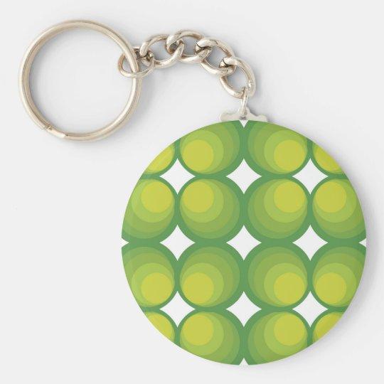 70's years green circle rows... schlüsselanhänger
