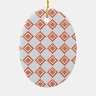 70sraute ovales keramik ornament