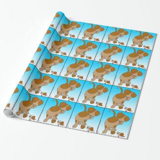 713 Hundeschnecke-Ameisen-Cartoon Geschenkpapier
