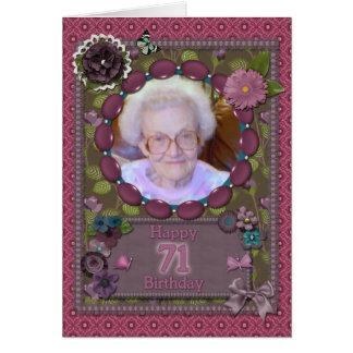 71. Fotokarte für einen Geburtstag Karte