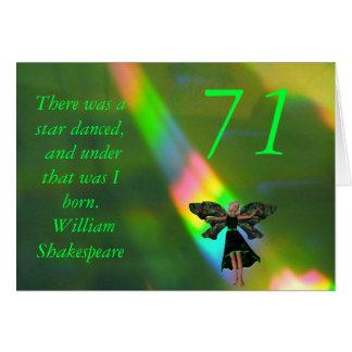 71. Geburtstag Karte