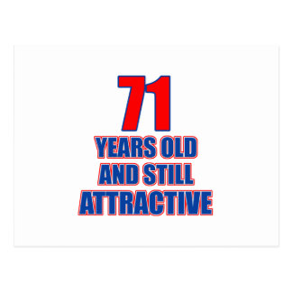 71-Geburtstags-Entwurf Postkarte