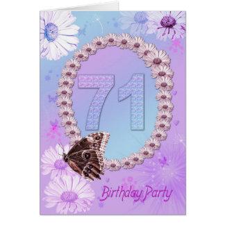 71. Geburtstags-Party Einladung
