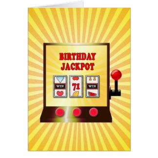 71. Geburtstags-Spielautomatkarte Karte