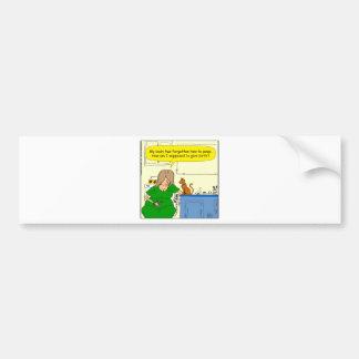 729 angenommen, um Geburts-Cartoon zu geben Autoaufkleber