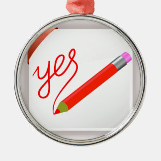 72Red Pencil_rasterized Silbernes Ornament