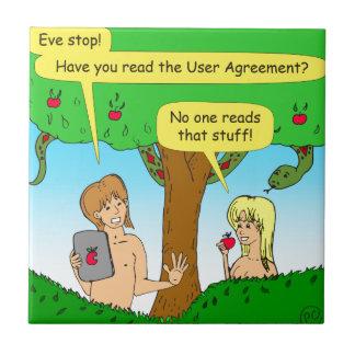 730 Adam- und Eve-Bedingungen Cartoon Fliese
