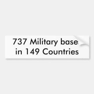 737 Militärstützpunkte in 149 Ländern Autosticker