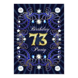 73. Geburtstags-Party laden mit Massen der Juwelen 12,7 X 17,8 Cm Einladungskarte