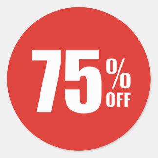 75% fünfundsiebzig Prozent WEG vom Runder Aufkleber