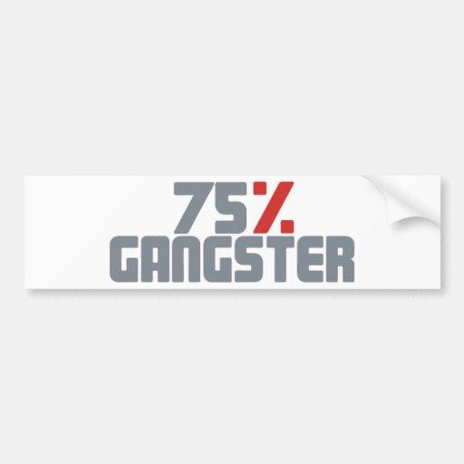 75% Gangster Autosticker