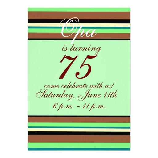 75. Geburtstag Einladung 12,7 X 17,8 Cm Einladungskarte | Zazzle