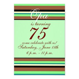 75. Geburtstag Einladung 12,7 X 17,8 Cm Einladungskarte