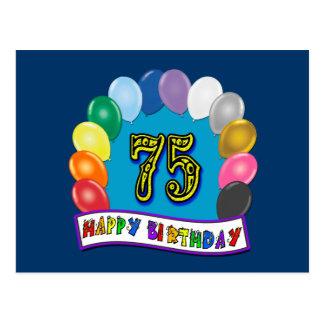 75. Geburtstags-Geschenke mit sortiertem Postkarte