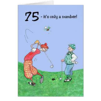 75. Geburtstags-Karte für einen Golfspieler Grußkarte