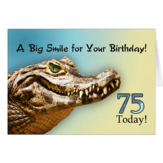 75. Geburtstags-Karte Karte