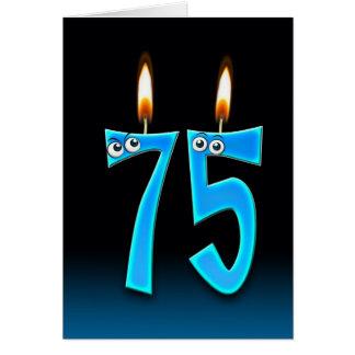 75. Geburtstags-Kerzen Karte