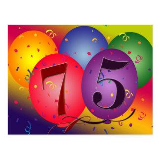 75. Geburtstags-Party Einladung Postkarte