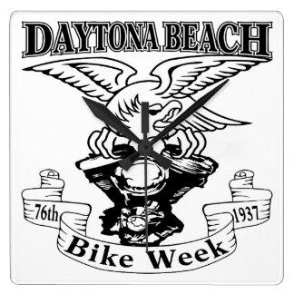 76. Daytona- Beachfahrrad-Woche Eagle 1937 Quadratische Wanduhr
