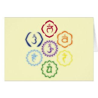 7 Chakras in einem Kreis Karte