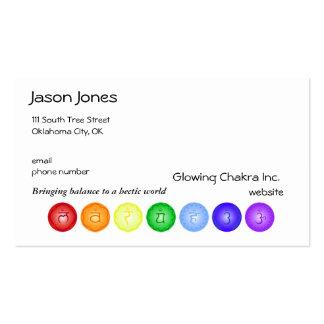 7 Chakras in einer Linie Visitenkarten