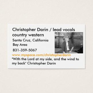 7, Christopher Darin/Führung vocals Land West… Visitenkarte