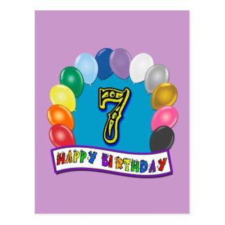 7. Geburtstags-Geschenke mit sortiertem Postkarte
