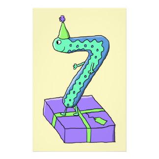 7. Geburtstags-Karikatur Individuelle Flyer