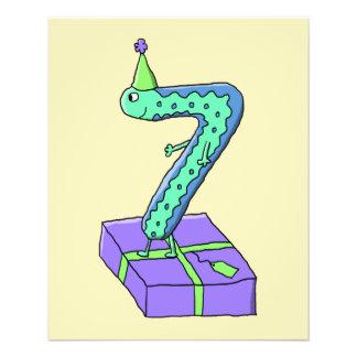 7. Geburtstags-Karikatur Flyerdruck