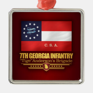 7. Georgia-Infanterie (2) Silbernes Ornament