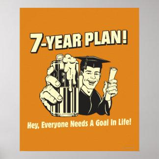 7-jähriger Plan: Jeder benötigt ein Ziel Poster