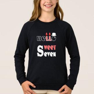 7-jähriges T-Shirt HQH der Geburtstag des Mädchens