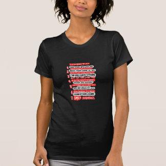 7 KARDINALS-REGELN FÜR LEBEN grafische T-Shirt