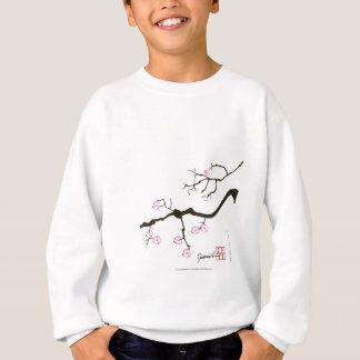7 Kirschblüte-Blüten mit rosa Vogel, tony Sweatshirt