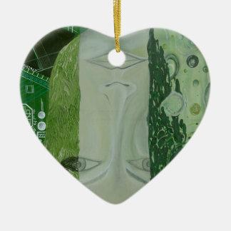 7 Maße in einem Platz Keramik Herz-Ornament