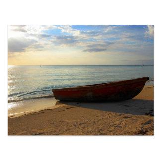 7 Meilen-Strand-Sonnenuntergang Postkarte