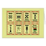 7 Prinzip-Kwanzaa-Feiertag Notecards Mitteilungskarte