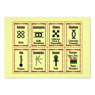 7 Prinzip-Kwanzaa-Feiertags-Party Einladungen