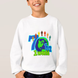 7 sieben Milliarde Weltbevölkerungs-Entwurf Sweatshirt