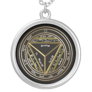 7. Siegel von Saturn Versilberte Kette