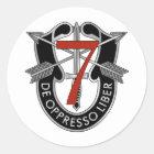 7. Spezielle Kraft-Gruppen-Wappen Runder Aufkleber